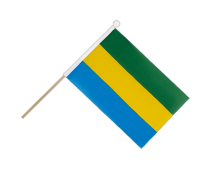 Gabon Hand Waving Flag 6x9""
