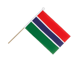 Gambia Hand Waving Flag 6x9""
