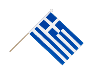 Greece Hand Waving Flag 6x9""