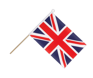 Great Britain Hand Waving Flag 6x9""