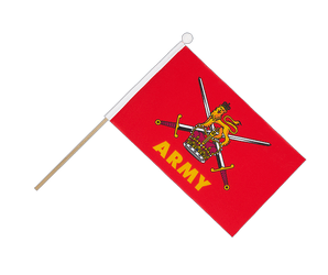 British Army Hand Waving Flag 6x9""
