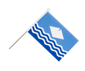 Drapeau sur hampe Île de Wight (Isle-of-Wight) - 15 x 22 cm