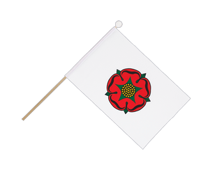 Lancashire red rose Hand Waving Flag 6x9""