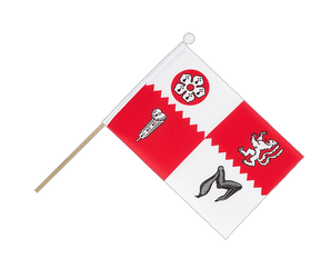 Leicestershire Hand Waving Flag 6x9""