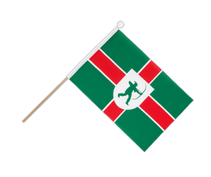 Nottinghamshire new Hand Waving Flag 6x9""