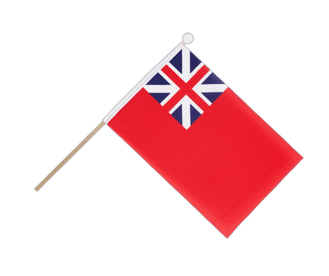 Drapeau sur hampe Red Ensign 1707-1801 - 15 x 22 cm