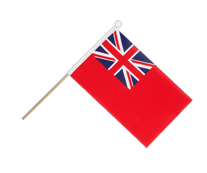 Drapeau sur hampe Red Ensign - 15 x 22 cm