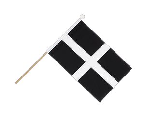 St. Piran Cornwall Hand Waving Flag 6x9""