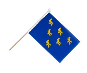 Drapeau sur hampe Sussex - 15 x 22 cm