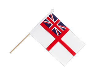 Drapeau sur hampe Royaume-Uni Naval Ensign of the White Squadron - 15 x 22 cm
