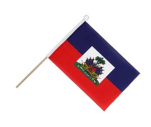 Haiti Hand Waving Flag 6x9""
