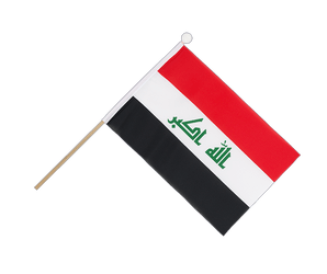Iraq 2009 Hand Waving Flag 6x9""