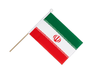 Iran - Hand Waving Flag 6x9""