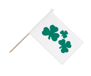 Shamrock - Hand Waving Flag 6x9""