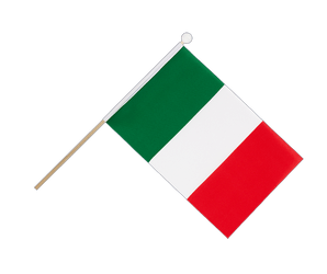 Italy - Hand Waving Flag 6x9""