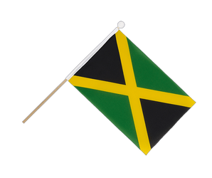 Jamaica Hand Waving Flag 6x9""