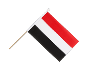 Yemen Hand Waving Flag 6x9""