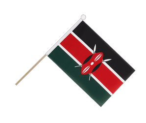Kenya Hand Waving Flag 6x9""