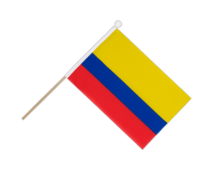 Colombia Hand Waving Flag 6x9""