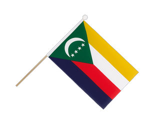 Comoros Hand Waving Flag 6x9""