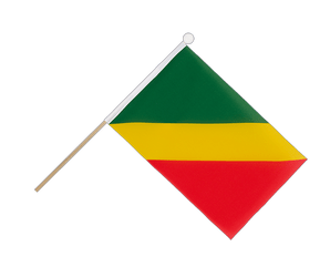 Congo Hand Waving Flag 6x9""