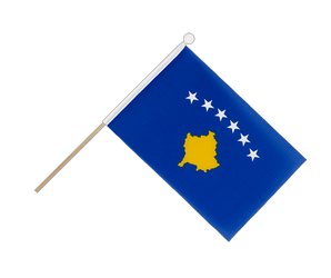 Kosovo - Hand Waving Flag 6x9""