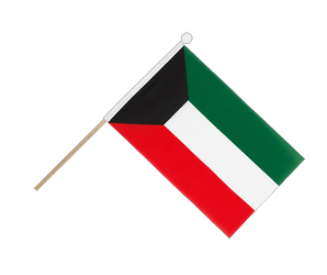 Kuwait Hand Waving Flag 6x9""