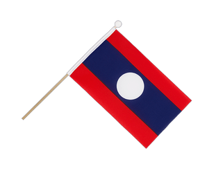 Laos Hand Waving Flag 6x9""