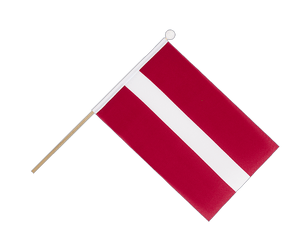 Latvia - Hand Waving Flag 6x9""