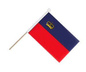 Liechtenstein - Hand Waving Flag 6x9""