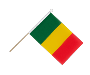 Mali Hand Waving Flag 6x9""