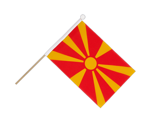 Macedonia Hand Waving Flag 6x9""