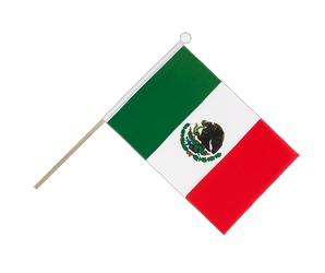Mexico - Hand Waving Flag 6x9""