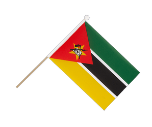 Mozambique Hand Waving Flag 6x9""