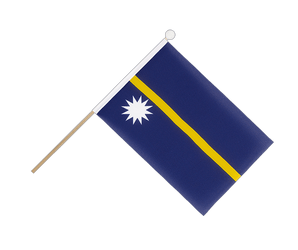 Nauru - Hand Waving Flag 6x9""