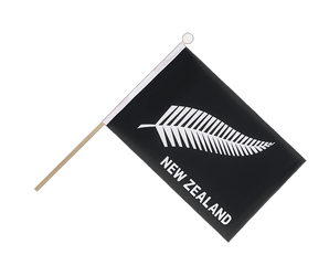 New Zealand feather all blacks Hand Waving Flag 6x9""