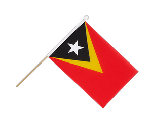 East Timor - Hand Waving Flag 6x9""