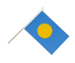 Palau Hand Waving Flag 6x9""