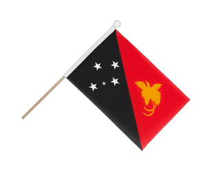 Papua New Guinea Hand Waving Flag 6x9""