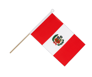 Peru Hand Waving Flag 6x9""