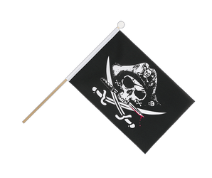 Pirate with bloody sabre Hand Waving Flag 6x9""