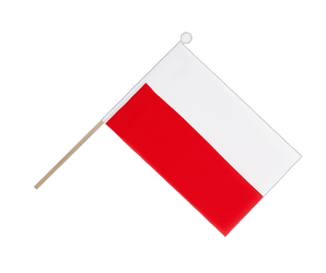 Poland Hand Waving Flag 6x9""