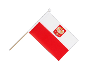 Poland with eagle Hand Waving Flag 6x9""