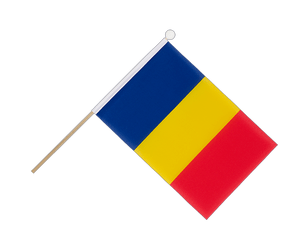 Rumania - Hand Waving Flag 6x9""