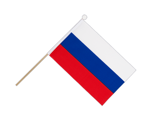 Russia Hand Waving Flag 6x9""
