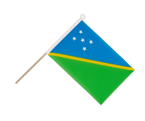Solomon Islands Hand Waving Flag 6x9""
