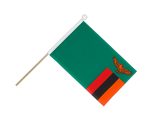 Zambia Hand Waving Flag 6x9""