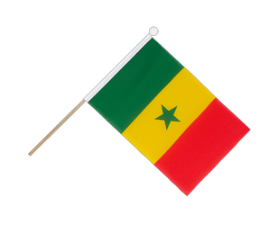 Senegal Hand Waving Flag 6x9""