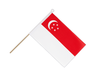 Singapore - Hand Waving Flag 6x9""