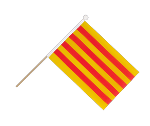 Catalonia Hand Waving Flag 6x9""